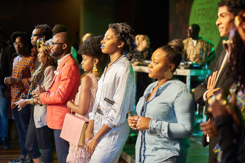 Designer on stage at Africa Utopia