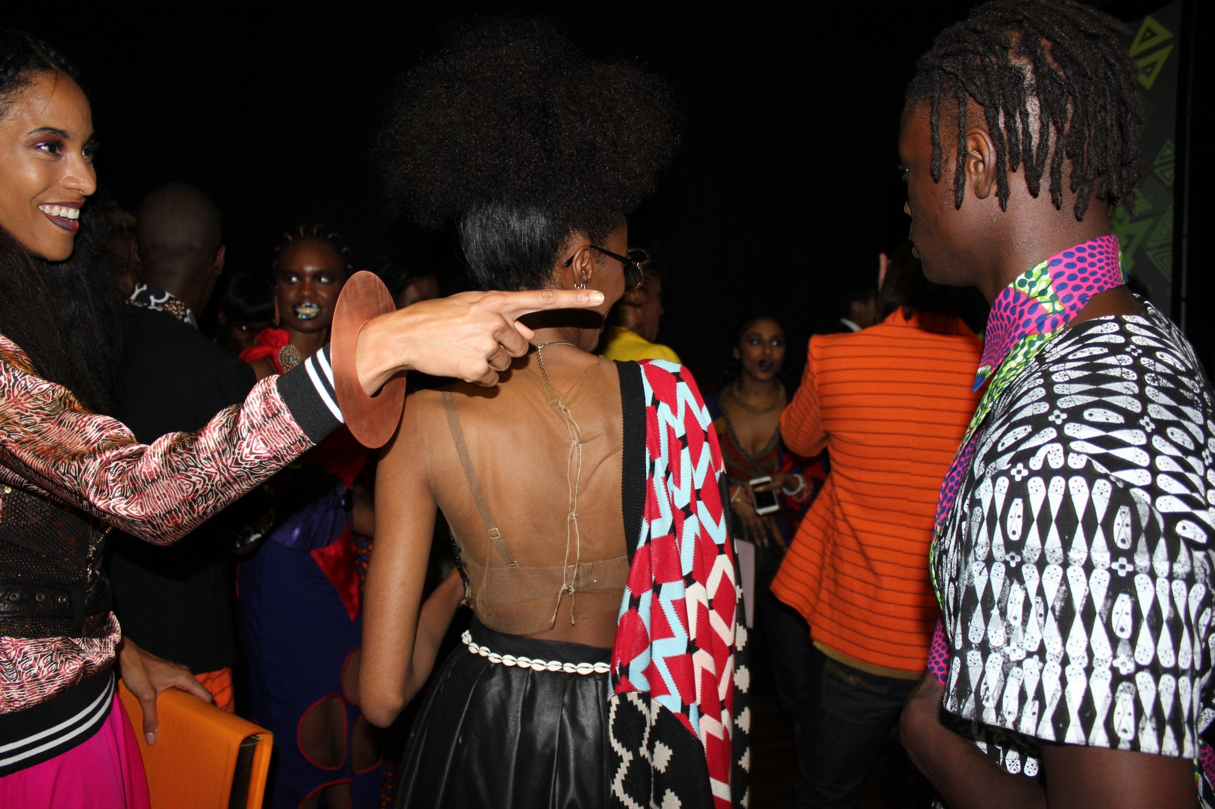 Backstage at Africa Utopia 2016