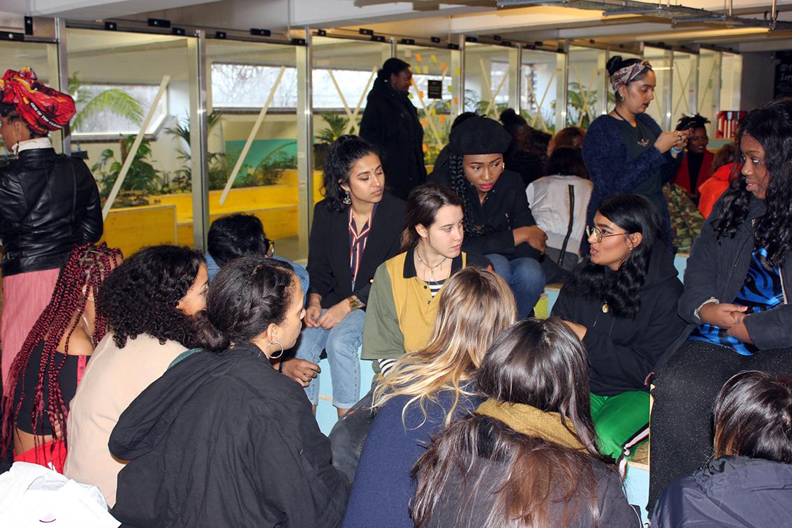 Panelist Jasmin speaking wish attendees