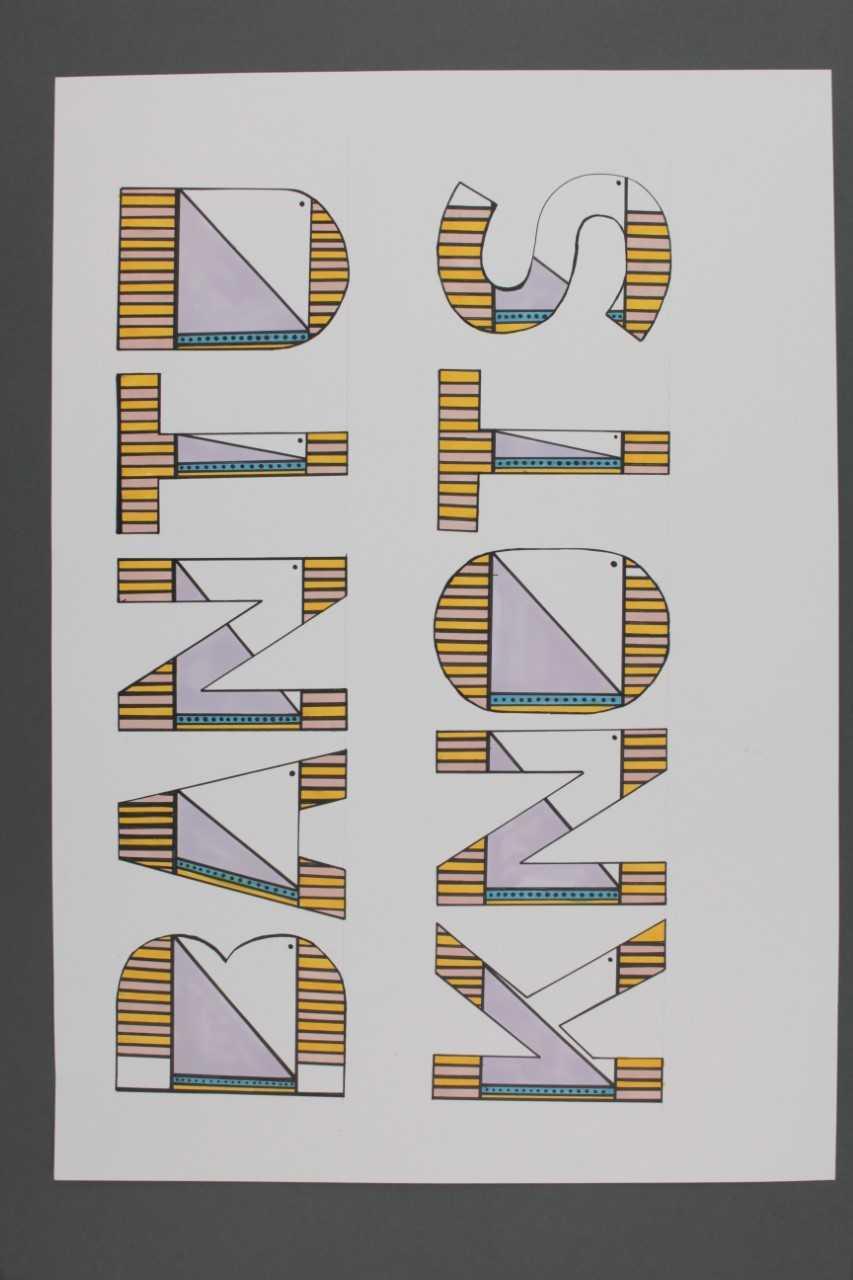 'Bantu Knots' graphic design work