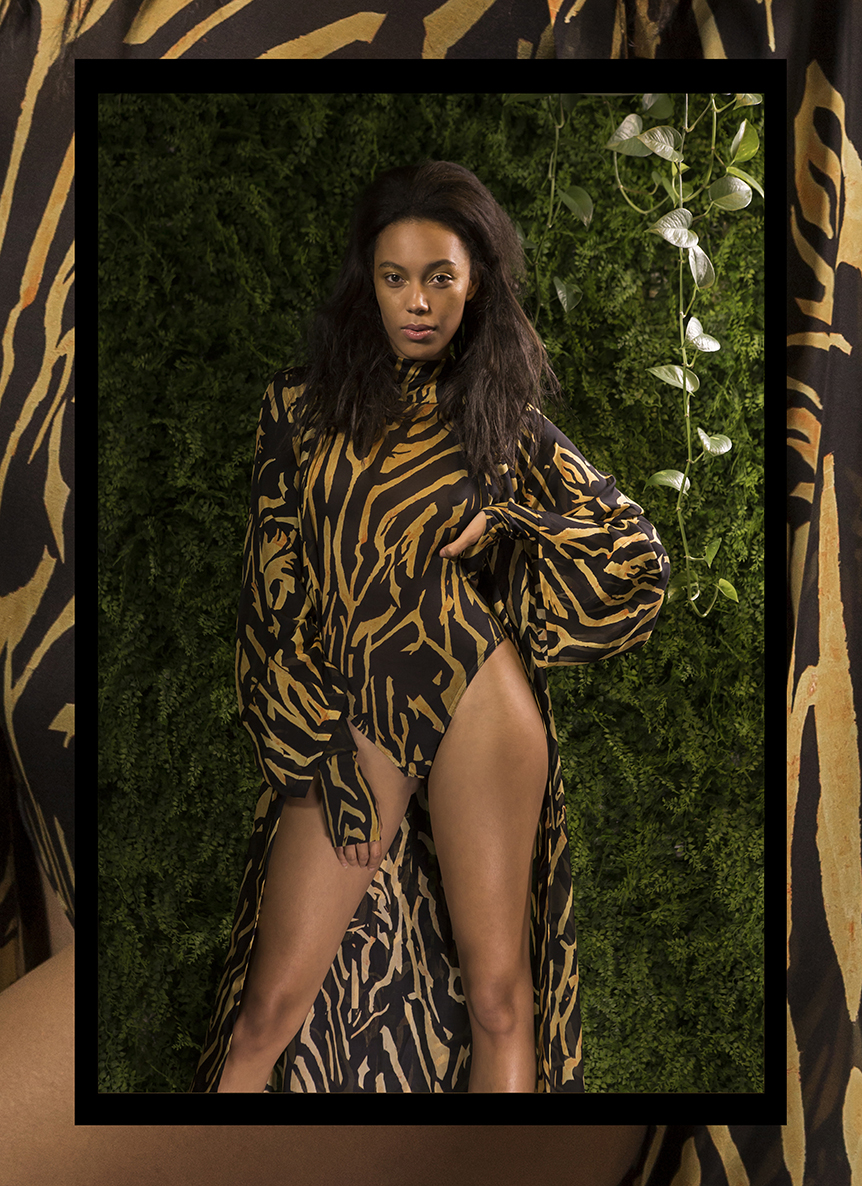 A look from 'The Wild Is Within Me' - Silk Jersey Leotard and Kimono