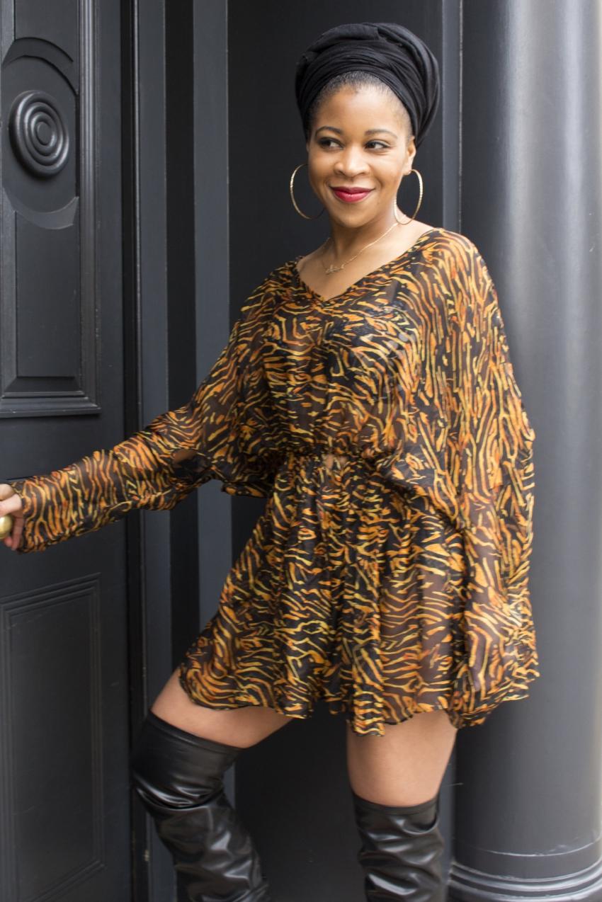 Michelle Duberry, Personal Nail Stylis, wearing Yemzi #TheWildIsWithinMe Boubou Dress