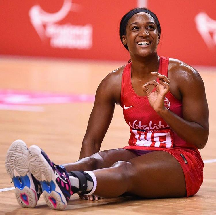 Sasha Corbin, captain of England's National Netball team, 'The Roses'