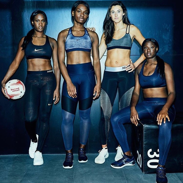 Sasha with England team in Nike campaign