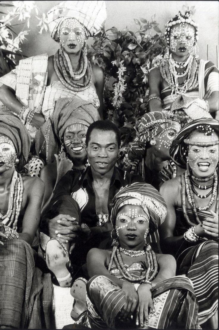 Fela and his wives, the Kalakuta Queens