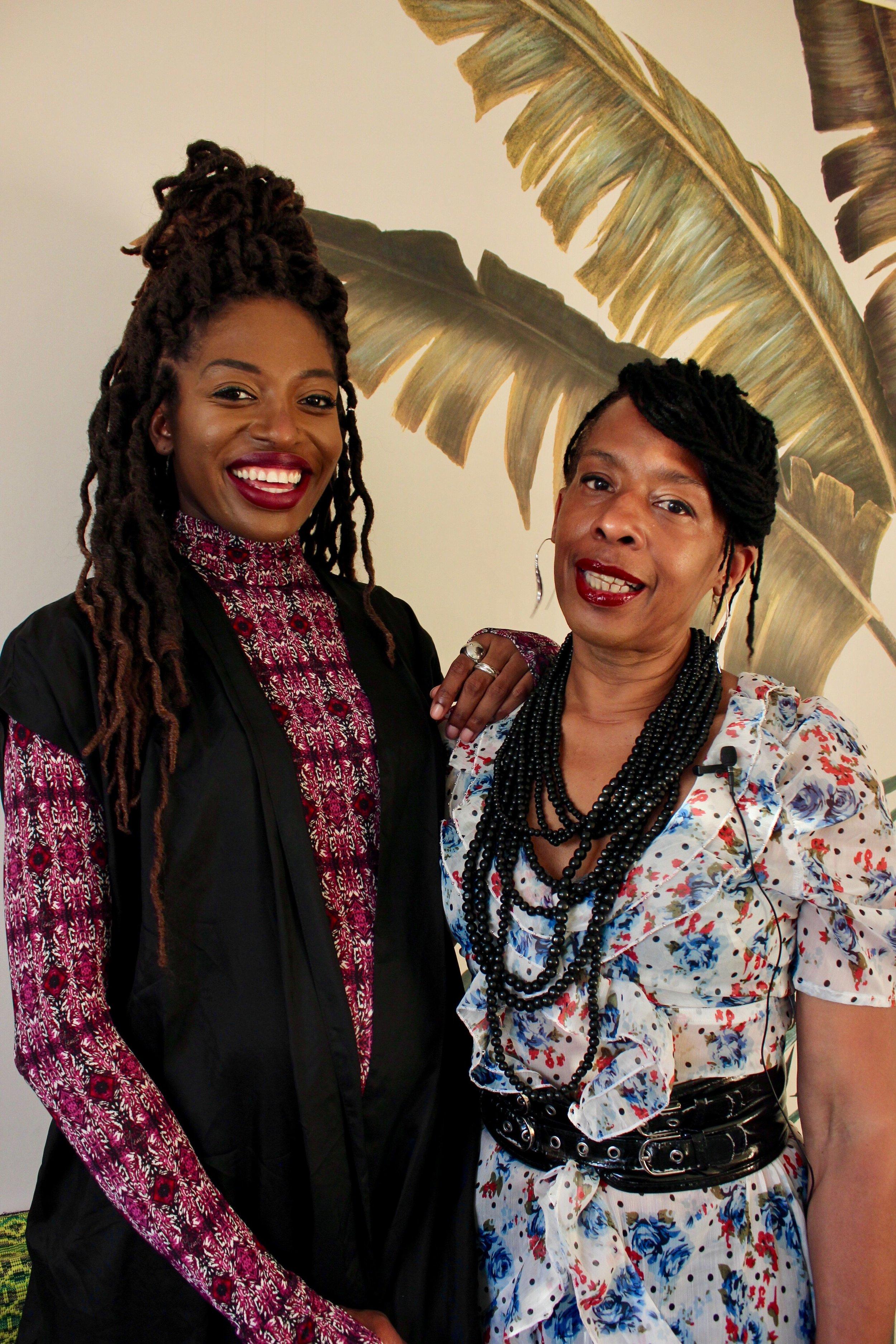 Elizabeth-Yemi Akingbade and #YemziGirl September Sharnain, a curator of space