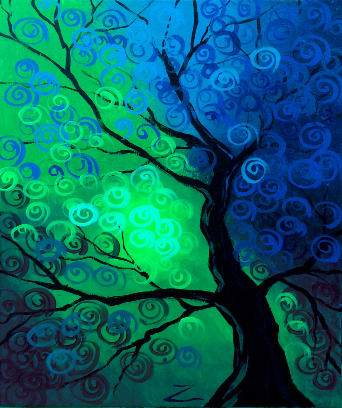 Green/Blue Tree