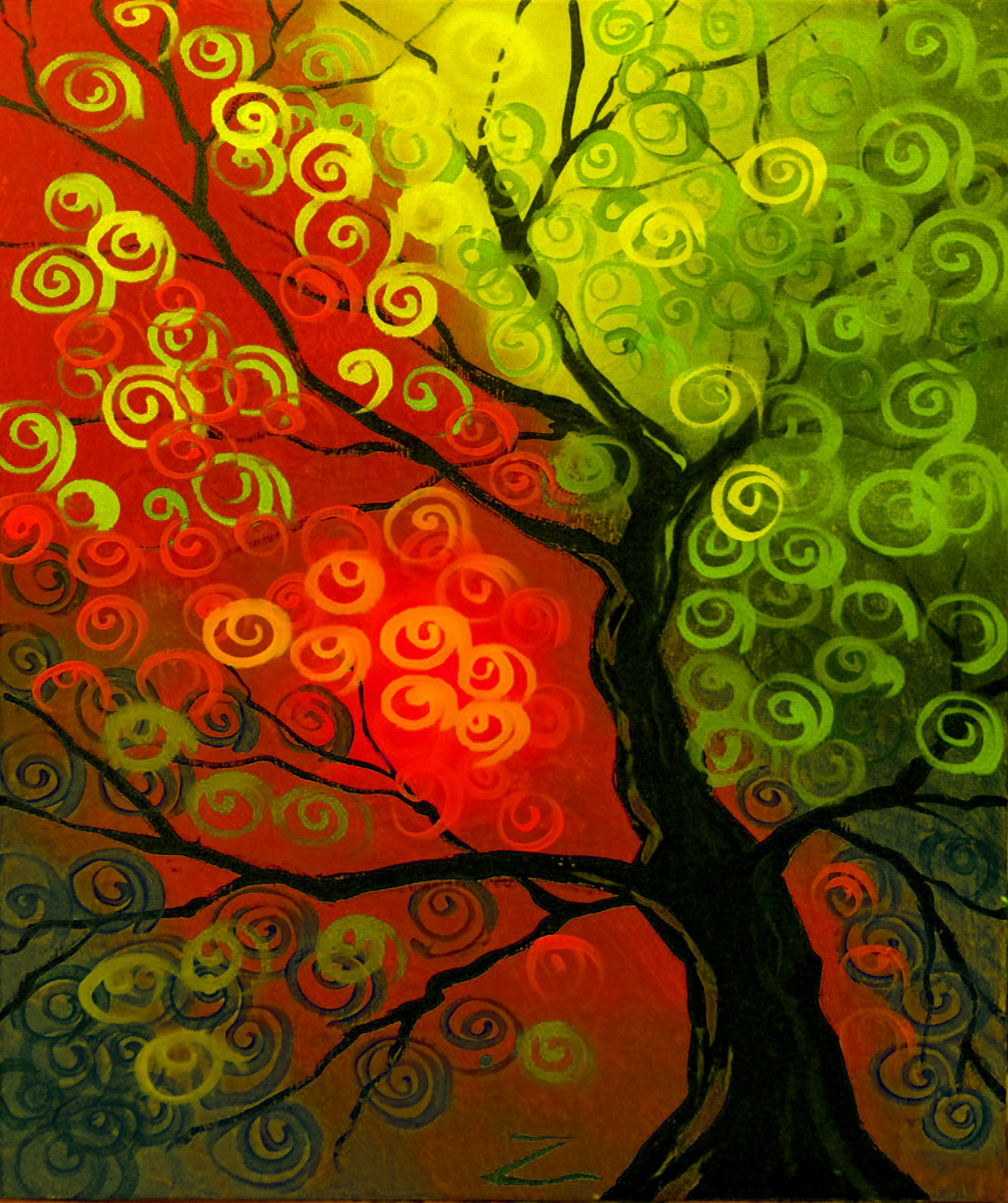 Red/Green Tree
