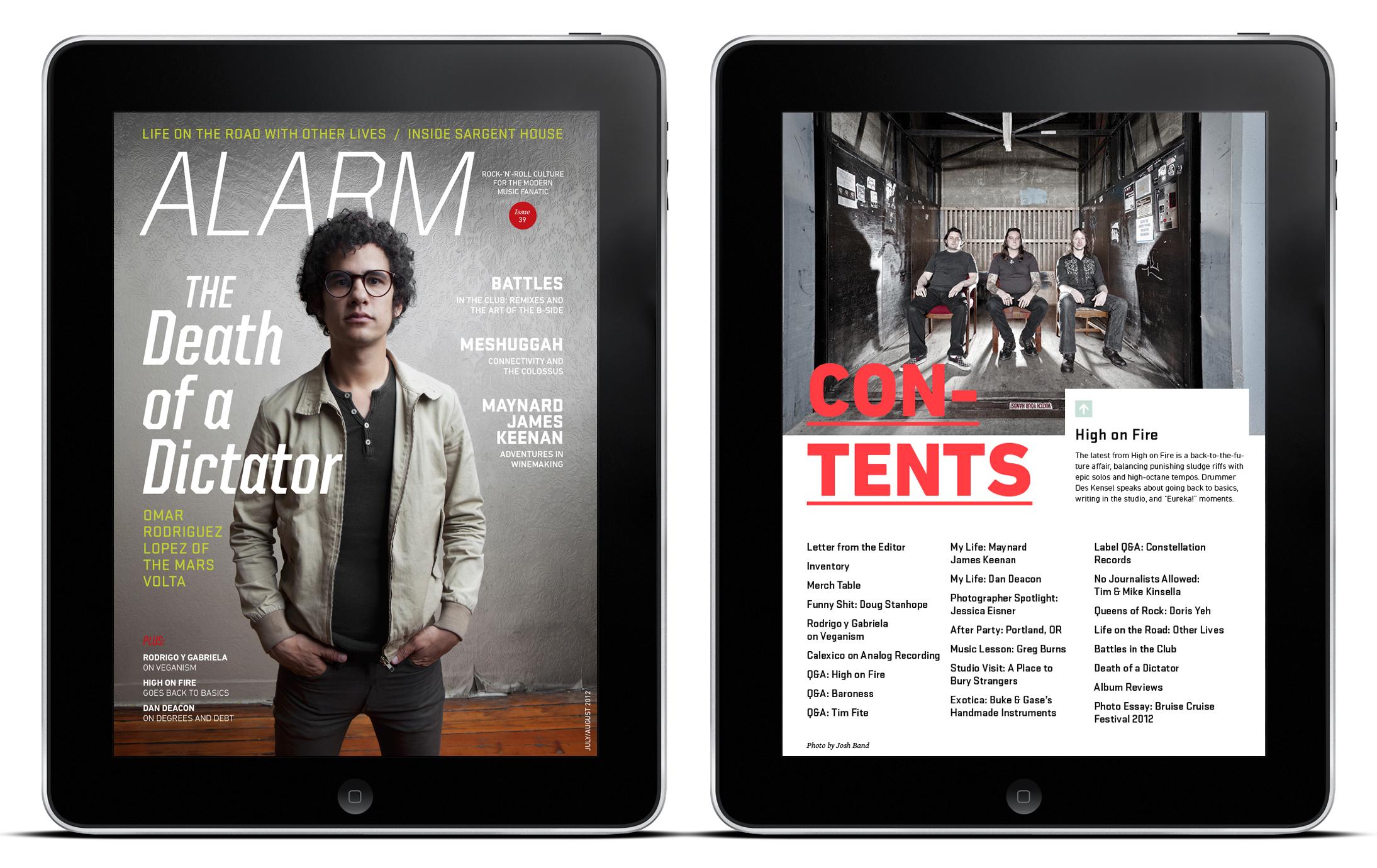 ALARM Magazine iPad Edition
