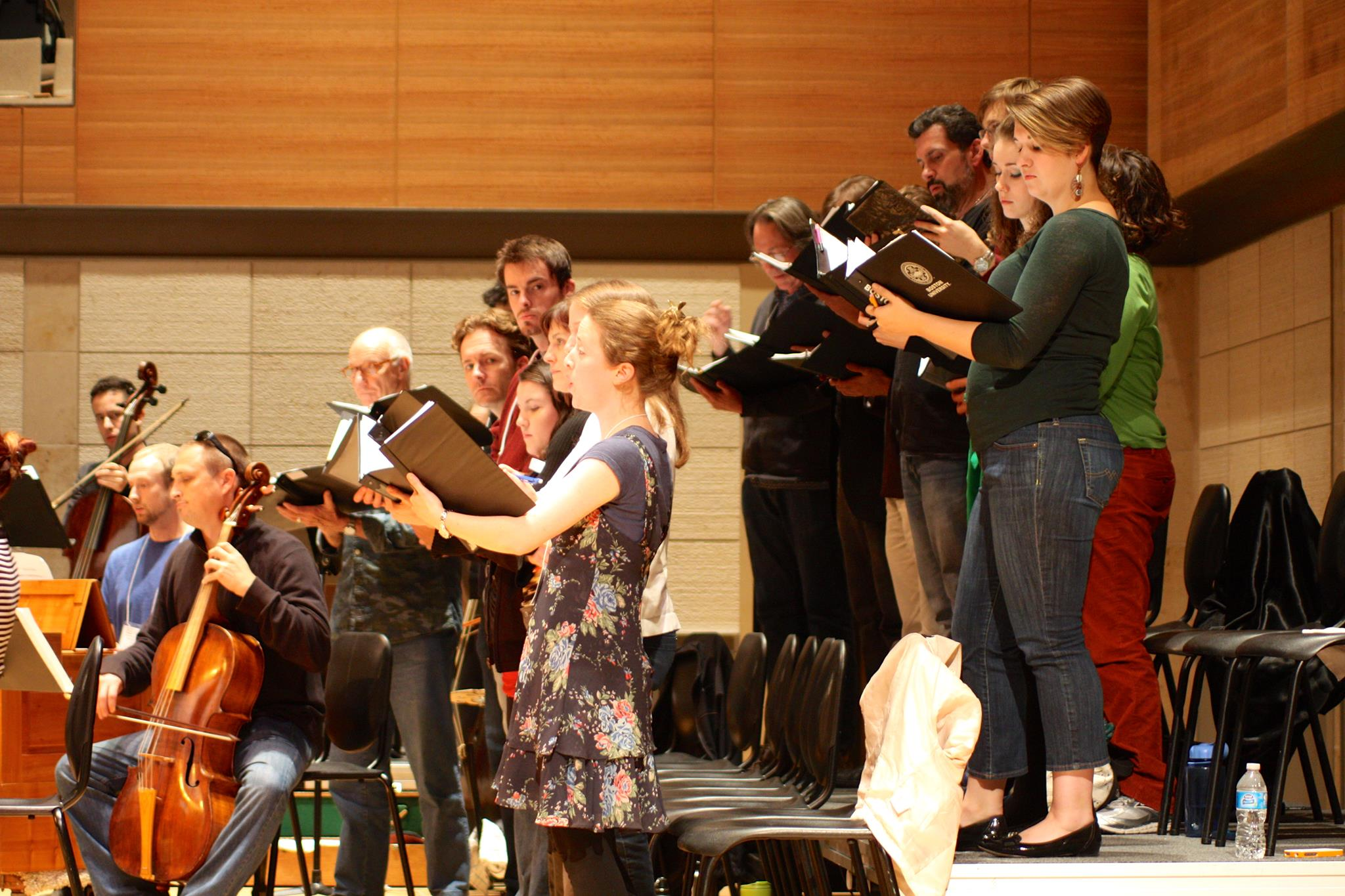 Biber Salzburg Mass dress rehearsal with American Bach Soloists, July 2013, North American premiere.