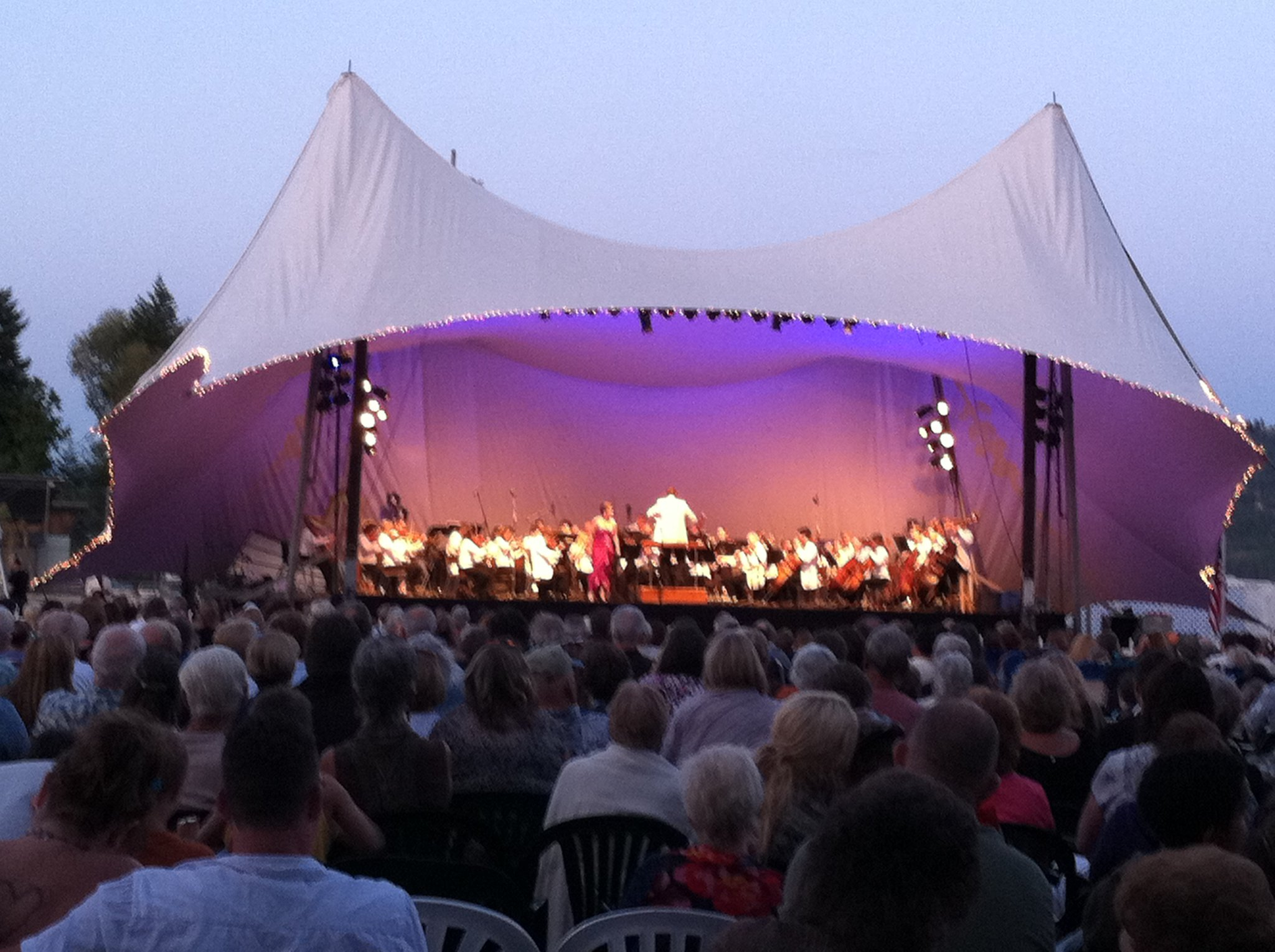 Arias with the Spokane Symphony at the Festival at Sandpoint, August 2011