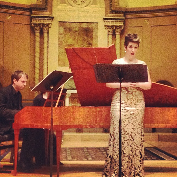 Recital, March 2013 with Dylan Sauerwald, harpsichord and fortepiano