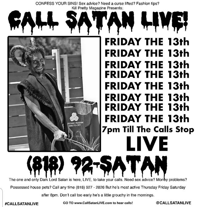 SATAN IS LIVE! TONIGHT AT 7pm CONFESS YOUR SINS!