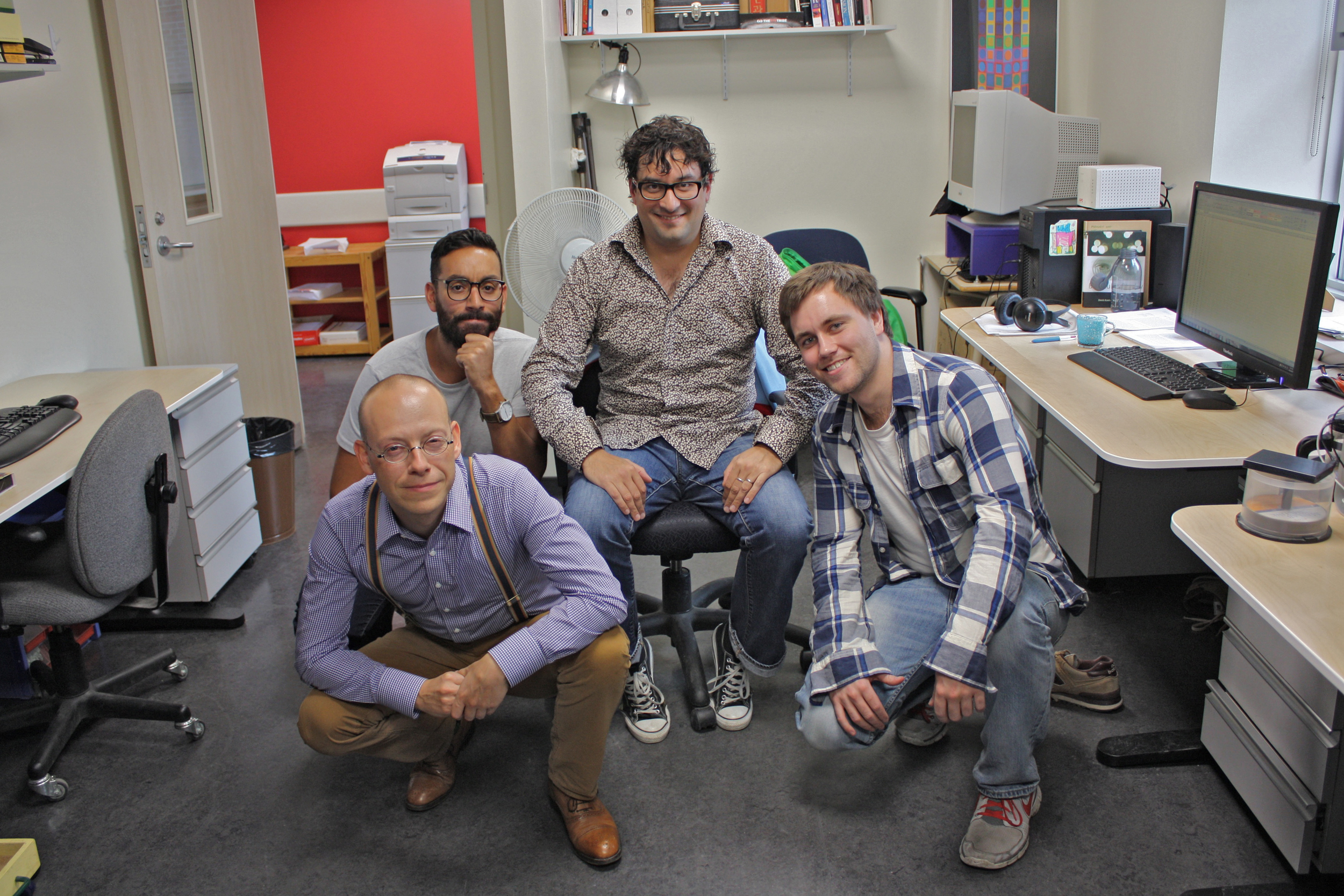 Left to right: Gunnar Schmidtmann, Marouane Ouhnana, Ben Jennings, Stephen Beukema