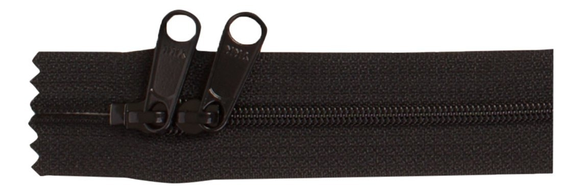 Double Slide Zipper - (76 cm, black)