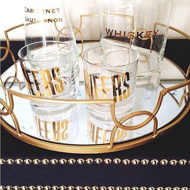 Golden Mirrored Trey (  www.casasugar.com)