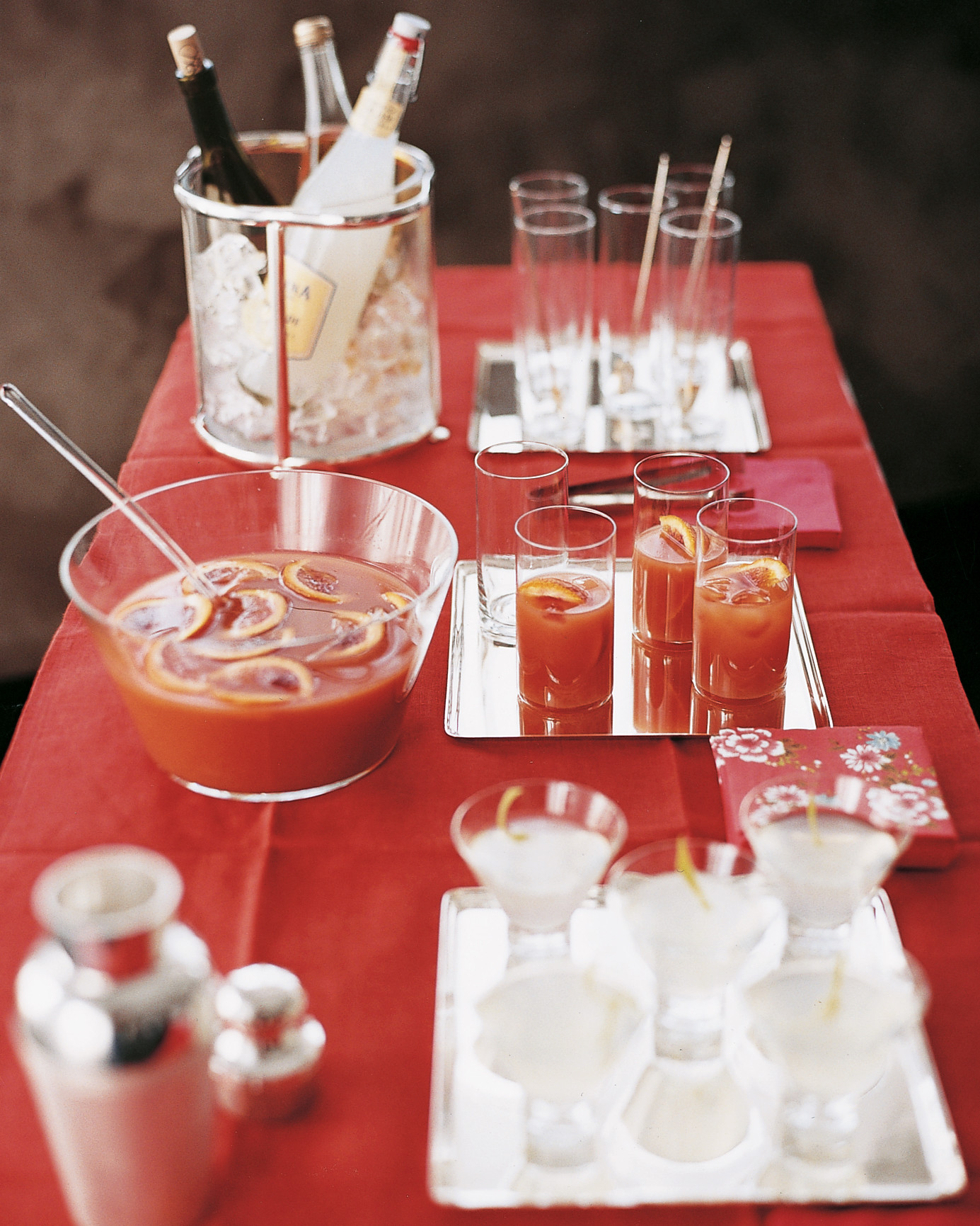 Blood Orange Punch - Spreading good cheer is easy -- greet guests with a blood orange punch bar!