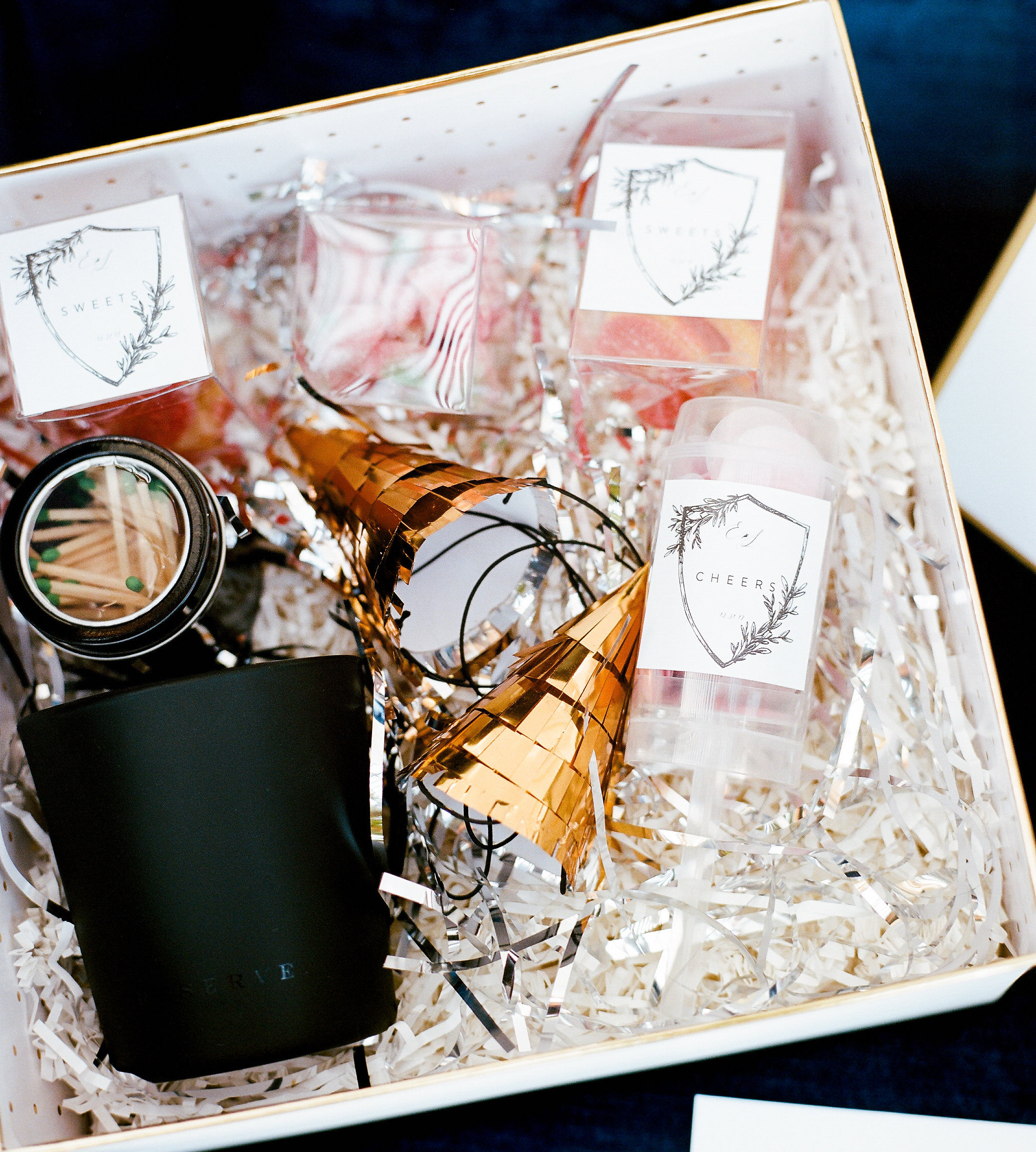 Favor Boxes - Wedding and corporate favor boxes ensure that your presentation is every bit as elegant the favors you've carefully selected for your guests! You can't go wrong with a selection of items guaranteed to please your guests.Photography: Finch Photography