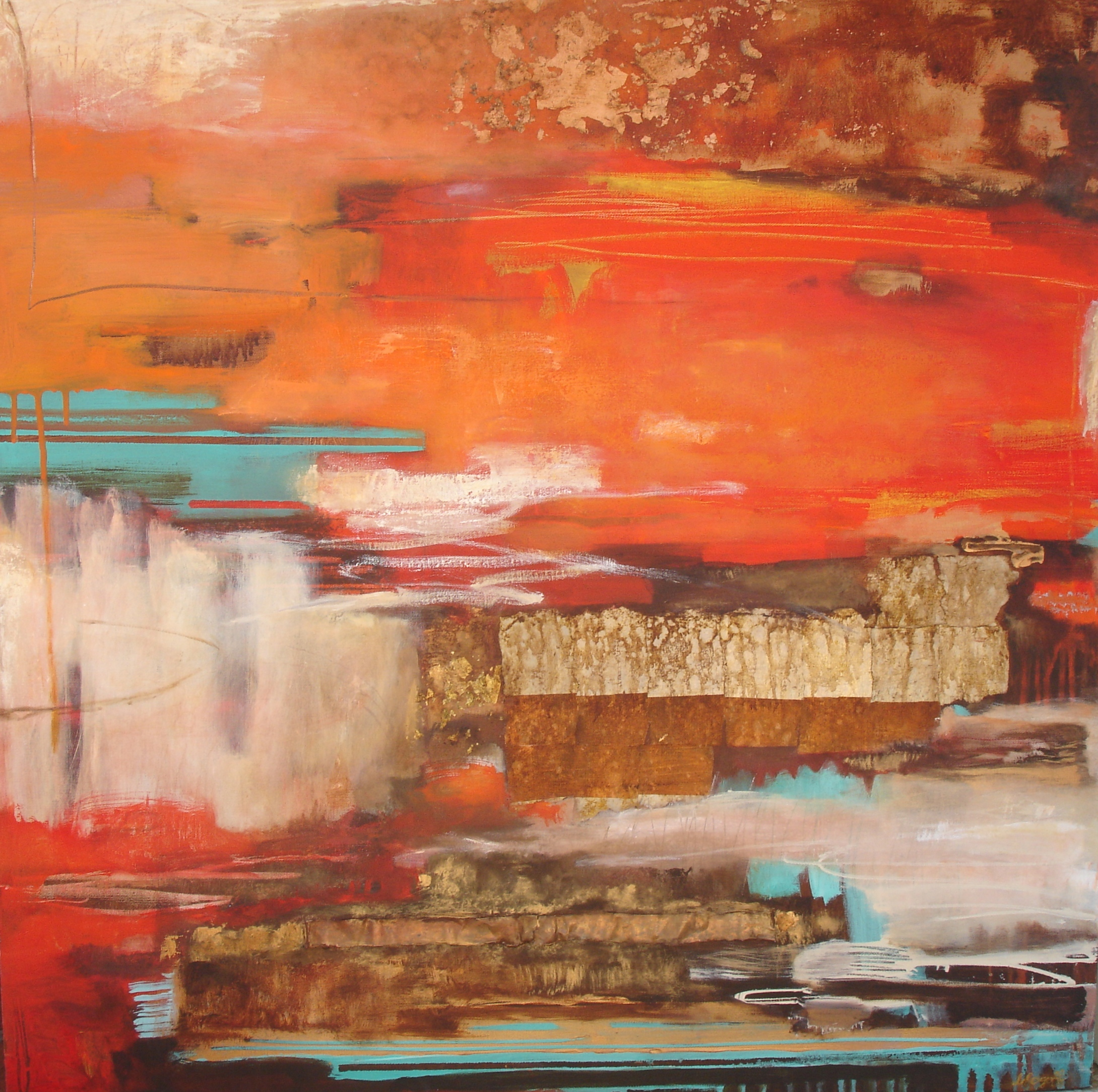 Red Earth, 92 x 92 cm