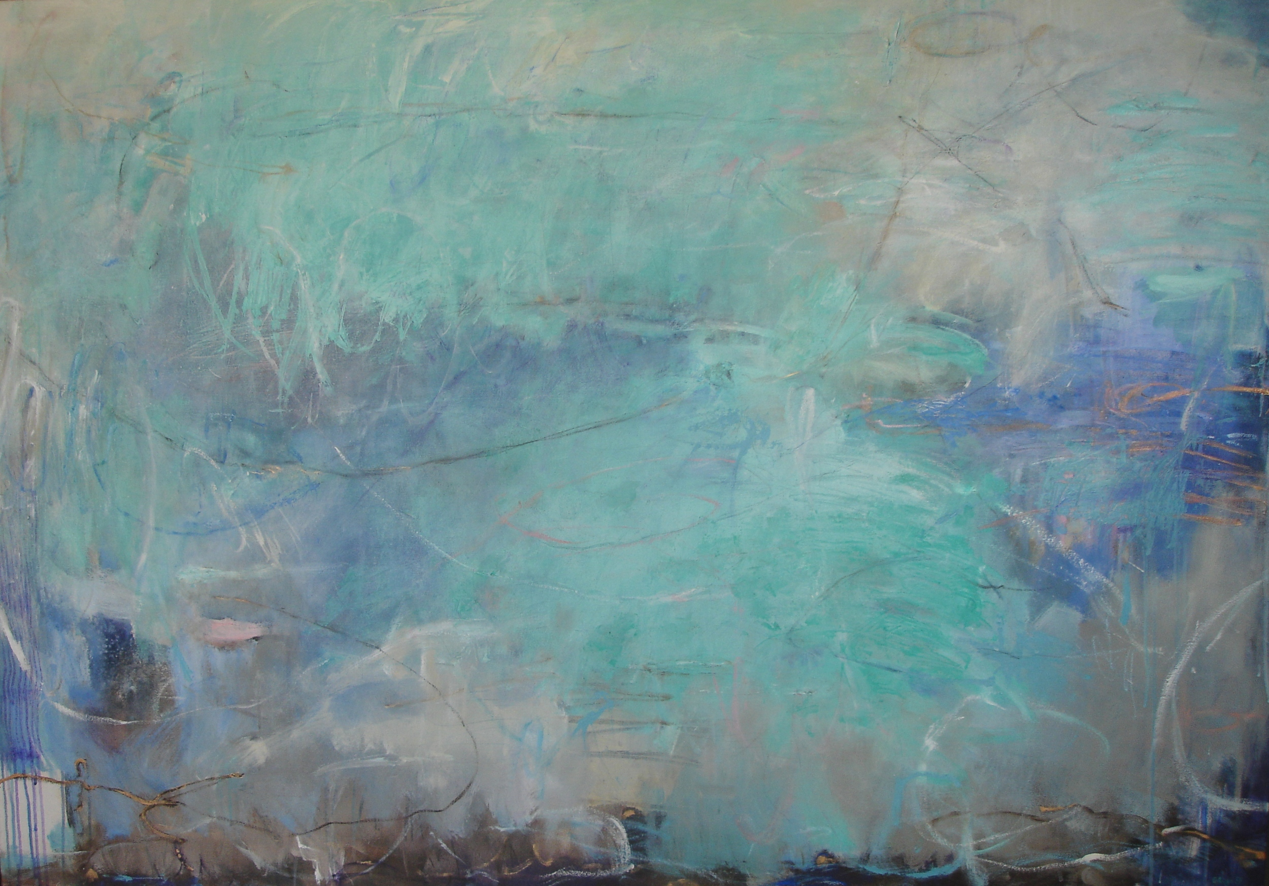 Echoes Beneath the Water, 106 x 152cm
