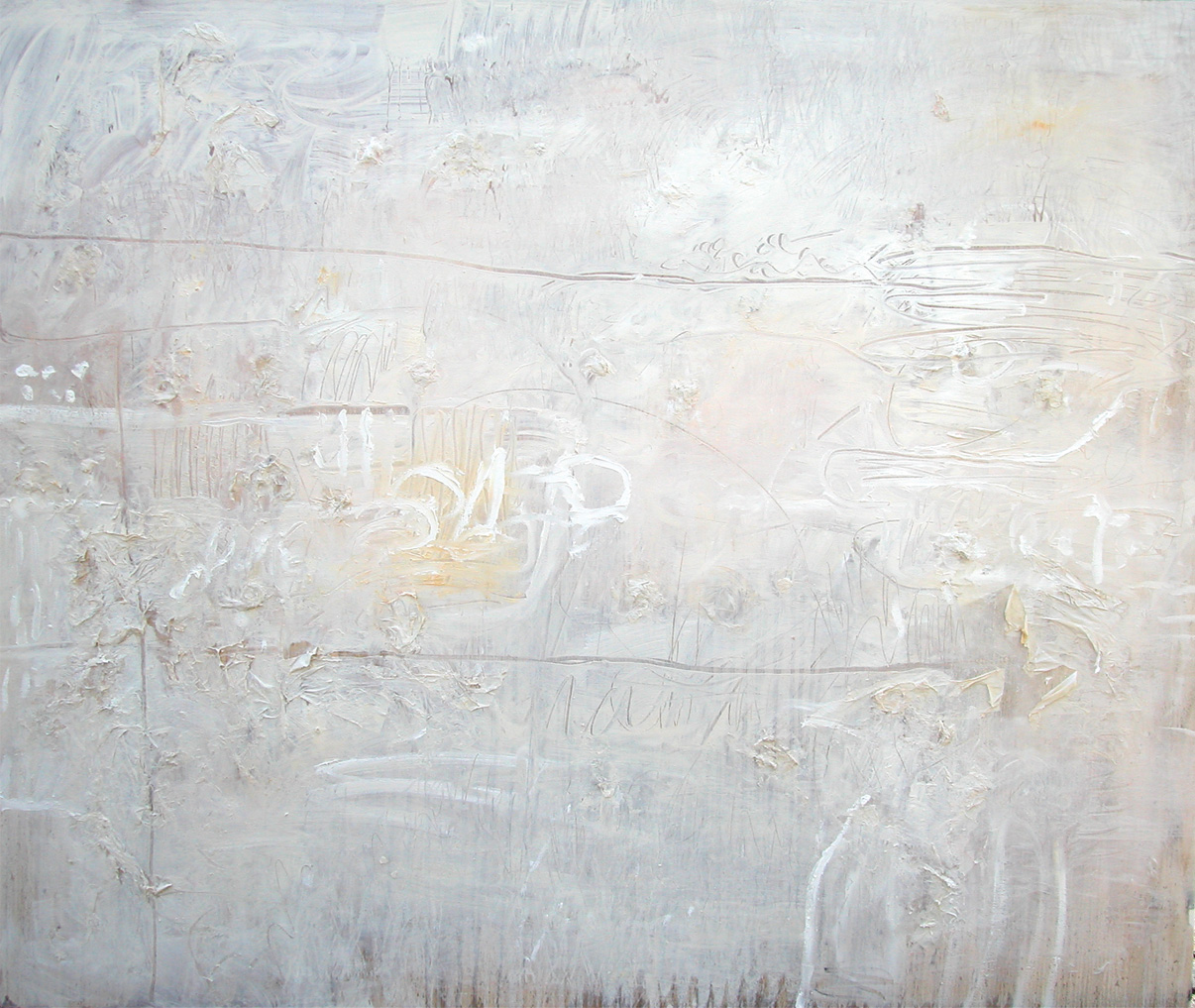 White-on-White 92 x 122cm