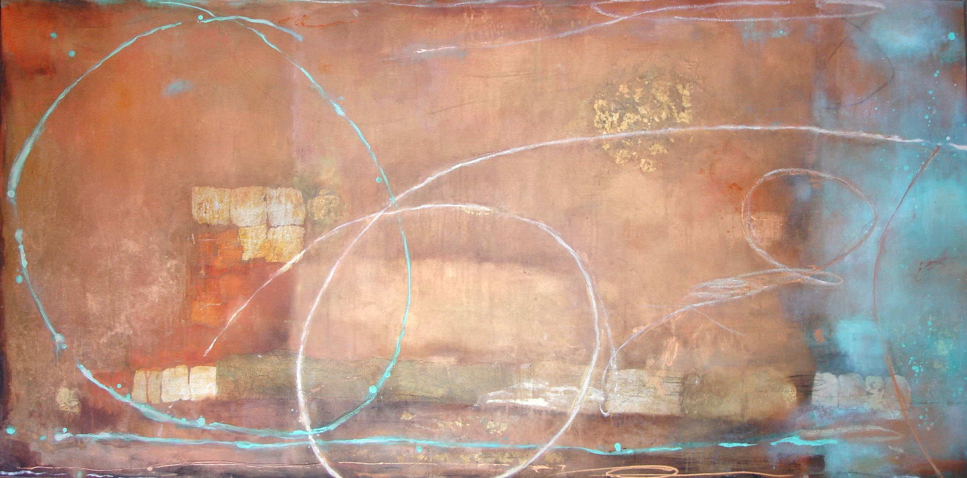 Copper Mist, 91 x 182cm