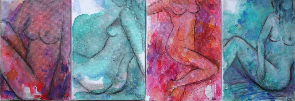 Bright Nudes 20 x 30cm (each)
