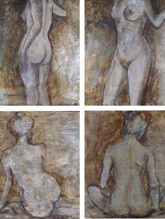 Copper Nudes 20 x 30cm (each)