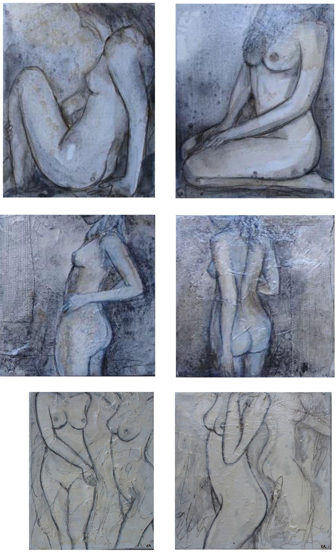 Grey Nudes 20 x 30cm (each)