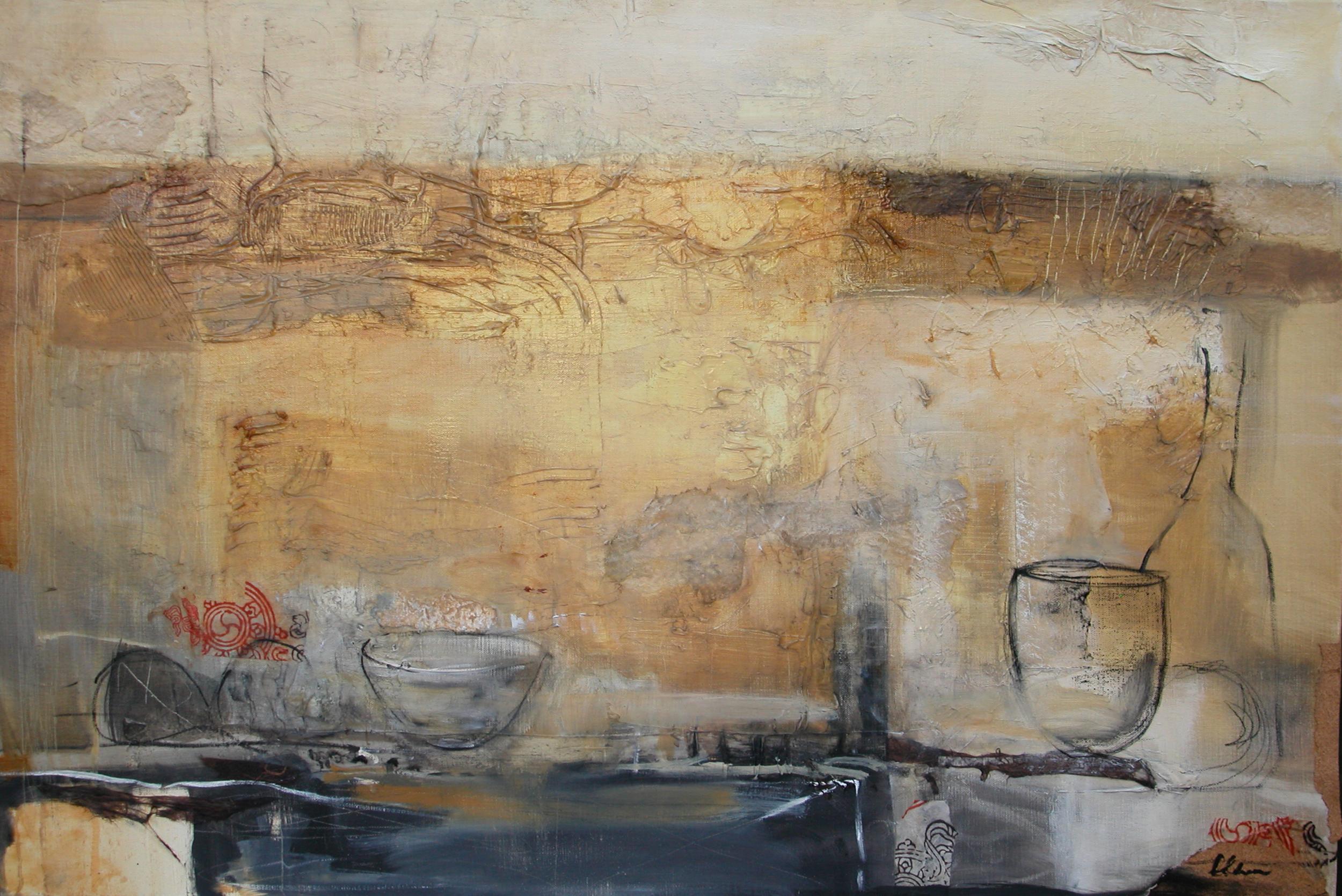 Abstract Still Life 92 x 61cm
