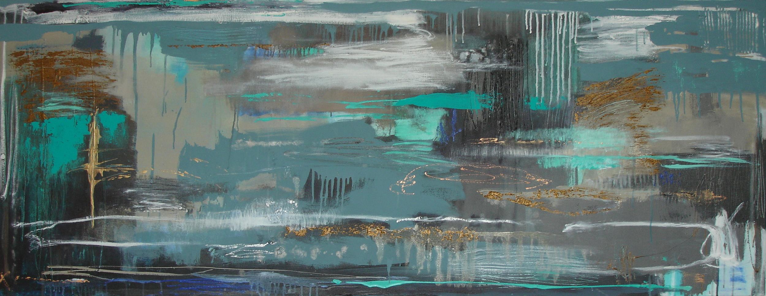 Free flow, 71 x 183cm