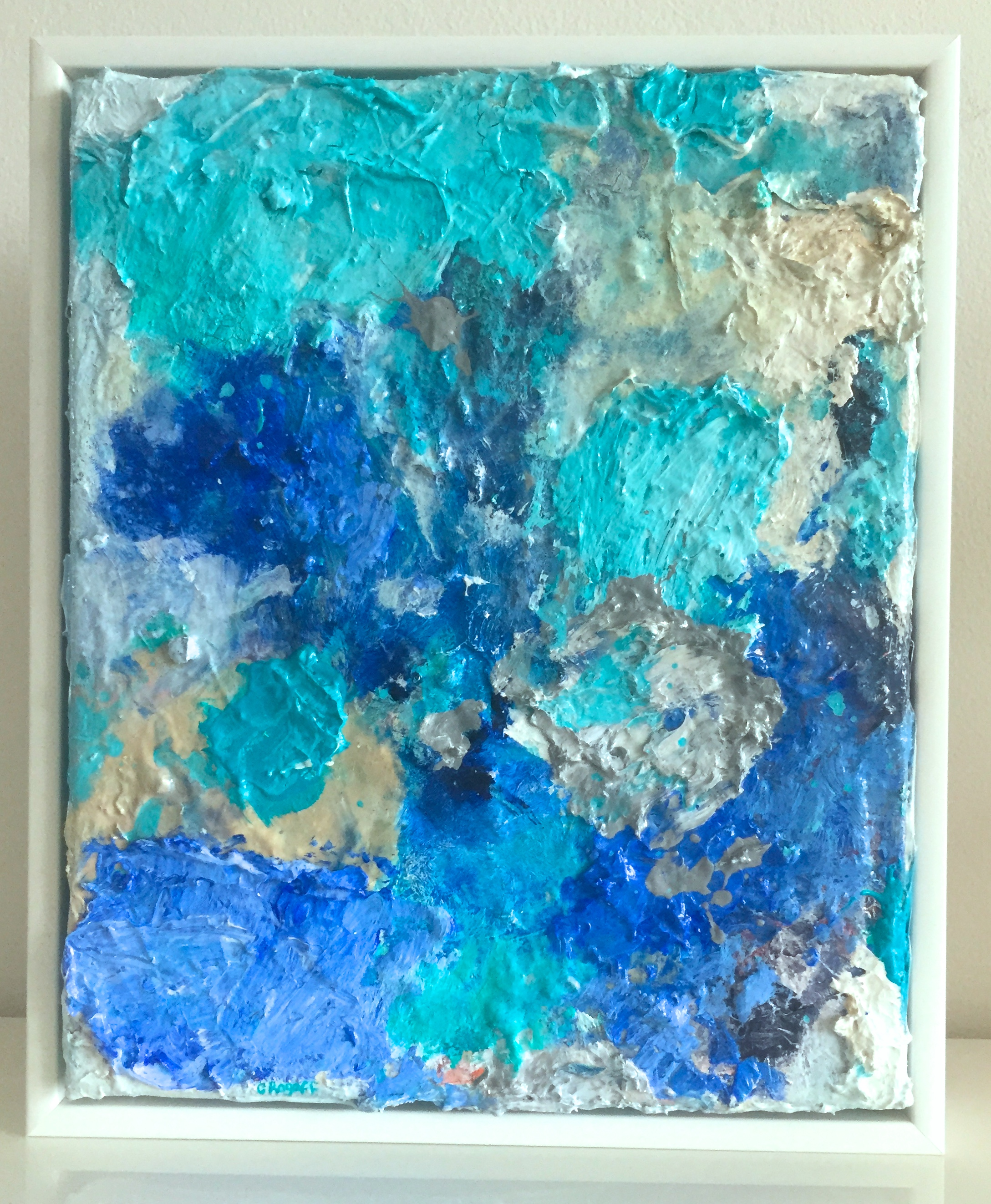 Blue Frontier, 32 x 38cm Framed