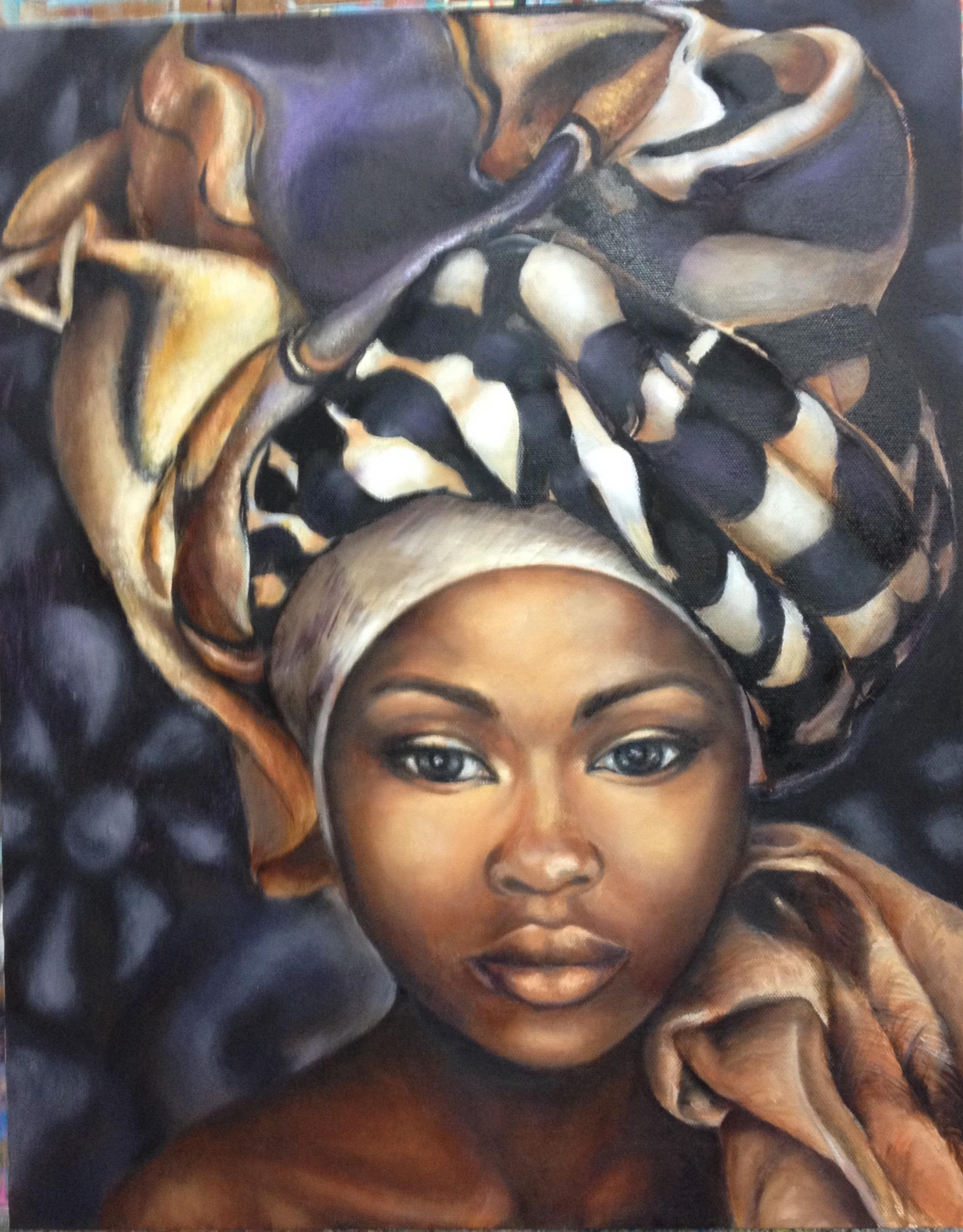 Jodi Lonstien, African Lady, 2017.jpg