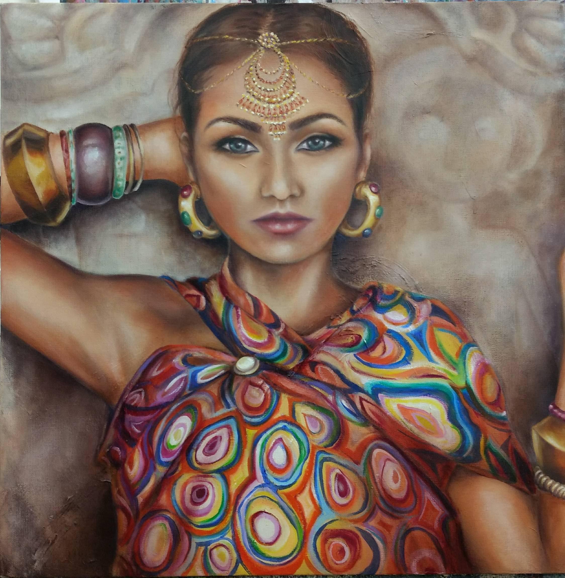Jodi Lonstien, Indian Lady, 2017.jpg