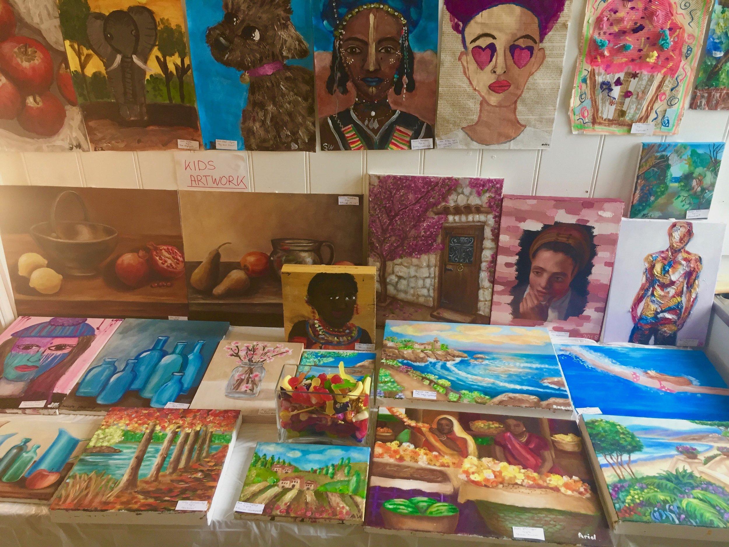 Pop Up Summer Exhibition, Kids Artwork