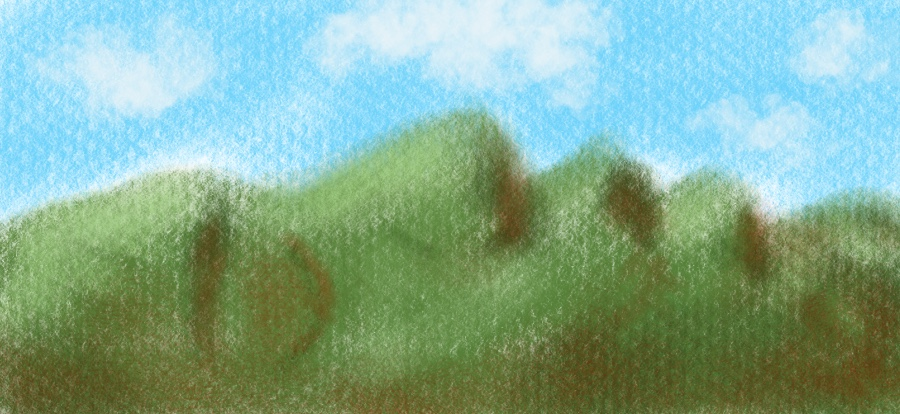 Sketch 1: A man's profile or mountain ridge?