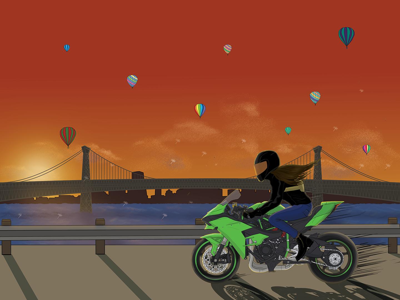 Sunset Blvd/Kawasaki Ninja