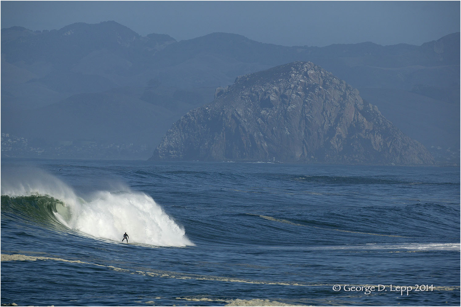 Surfing near Moro Rock, CA. © George D. Lepp 2014 LC-CC-MB-0107