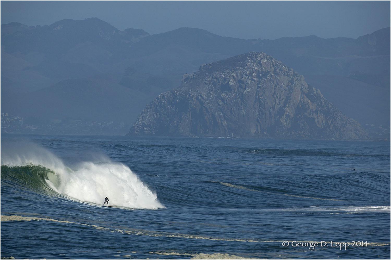 Surfing near Moro Rock, CA.     © George D. Lepp 2014 LC-CC-MB-0107