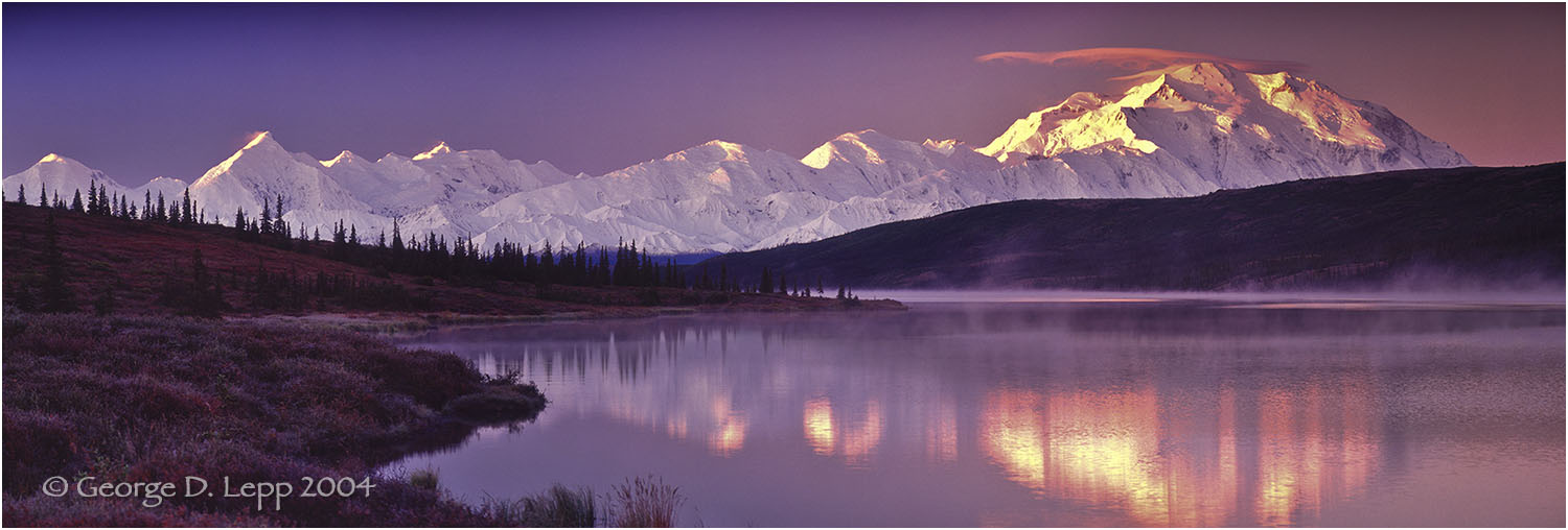 Mt. McKinley and Wonder Lake. © George D. Lepp 2004   L-AK-DE-0006