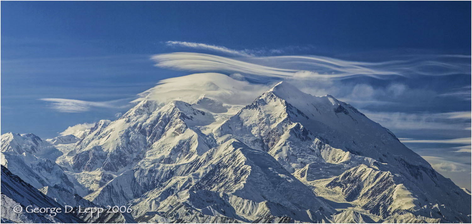 Mount McKinley with clouds. © George D. Lepp 2006  L-AK-DE-0003