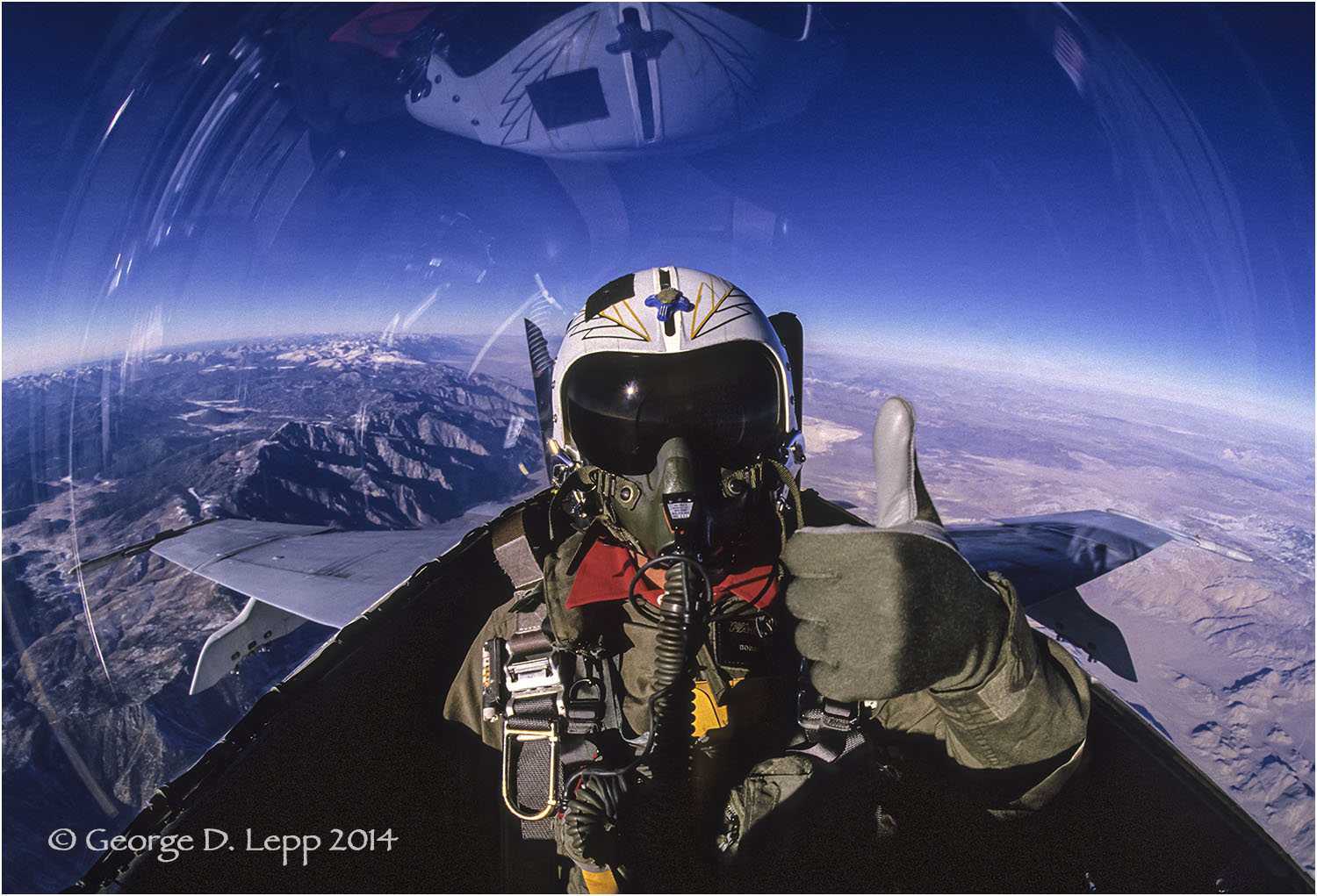 Pilot in F18 with thumbs up .© George D. Lepp 2014  T-AI-FI-0001-S