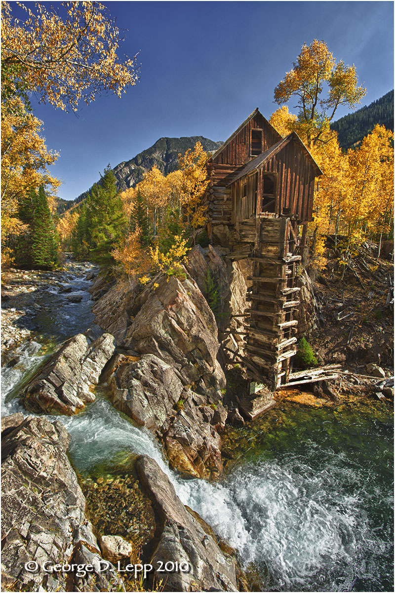 Crystal Mill, Colorado. © George D. Lepp 2010  L-CO-CB-0002