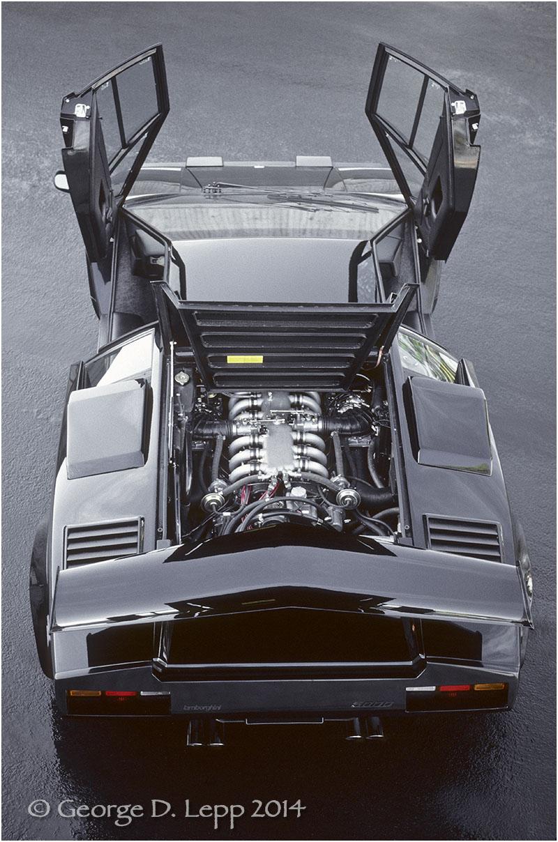 Lamborghini Countach, Car and Driver Mag. © George D. Lepp 2014 T-CA-LA-00032