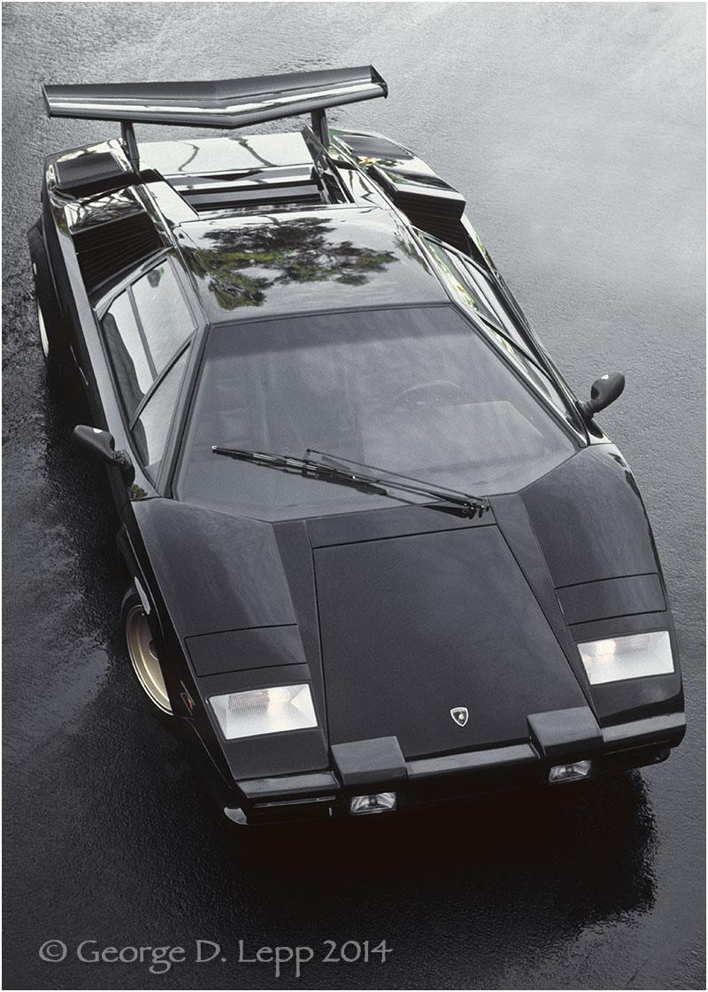 Lamborghini Countach, Car and Driver Mag. © George D. Lepp 2014 T-CA-LA-0003