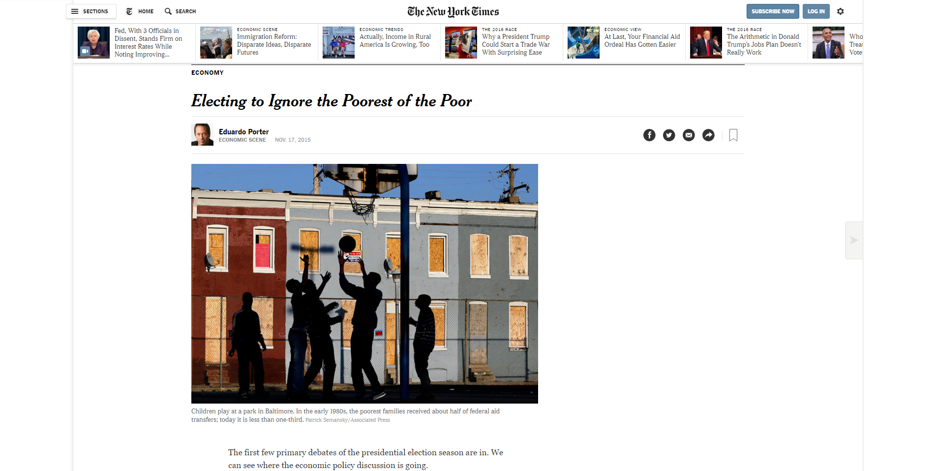 Electing to Ignore the Poorest of the Poor   The New York Times.png