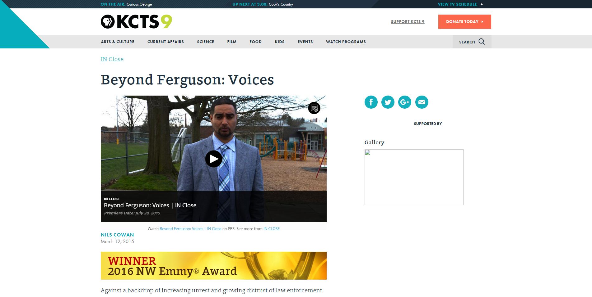 Beyond Ferguson  Voices   KCTS 9   Public Television.png