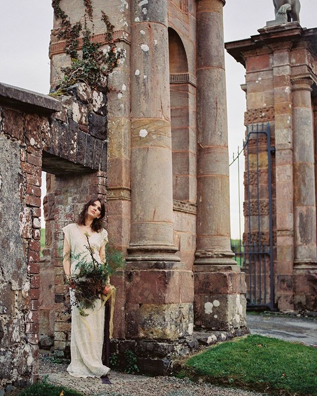 Lions Gate , Northern Ireland. Take me back!  Photographer: @elidefaria  Floral design and styling: @earthandvessel  Invitation suite: @thewellsmakery  Dress: @maidenbridal  MUAH: @_makeup_by_sj_  Ring: @etsy  Agency: @morgantheagency Film processing: @negativelab