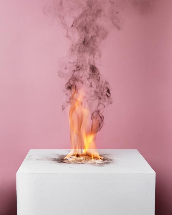 Camphor Flame on Pedestal' Art Work by Michael Bühler-Rose