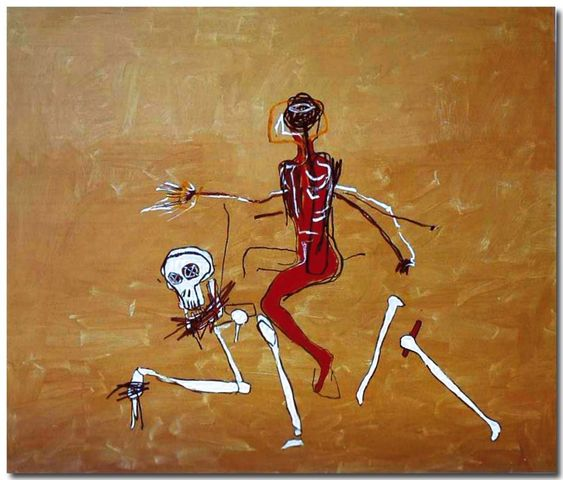 """Riding with death"" by   Jean  -  Michel Basquiat"